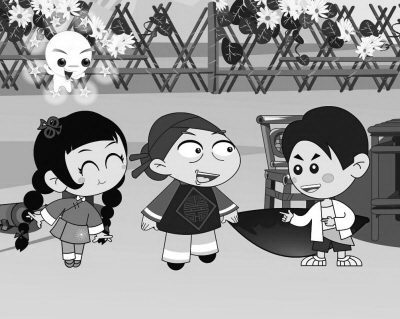 动画片《补锅》中的人物形象,时尚青春,活泼可爱.