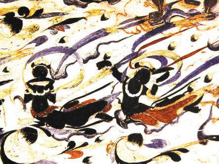神仙驾鹤飞天图